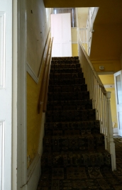 The main staircase. Now heading upstairs...