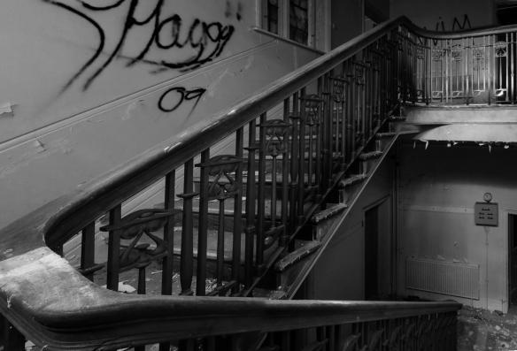 Admin stairs B&W
