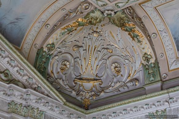 Adam X Alla Italia Belgium Urbex Urban Exploration ceiling detail corner