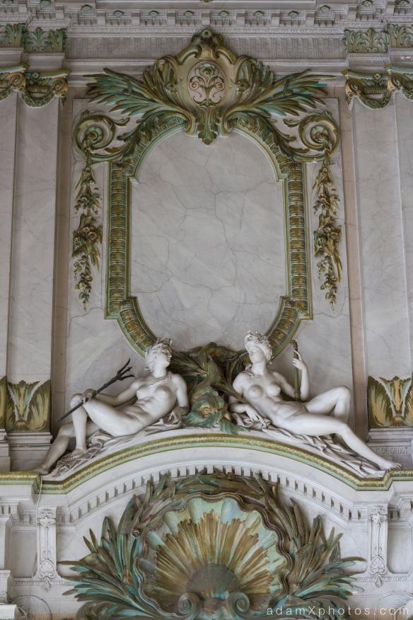 Adam X Alla Italia Belgium Urbex Urban Exploration detail statues ceiling
