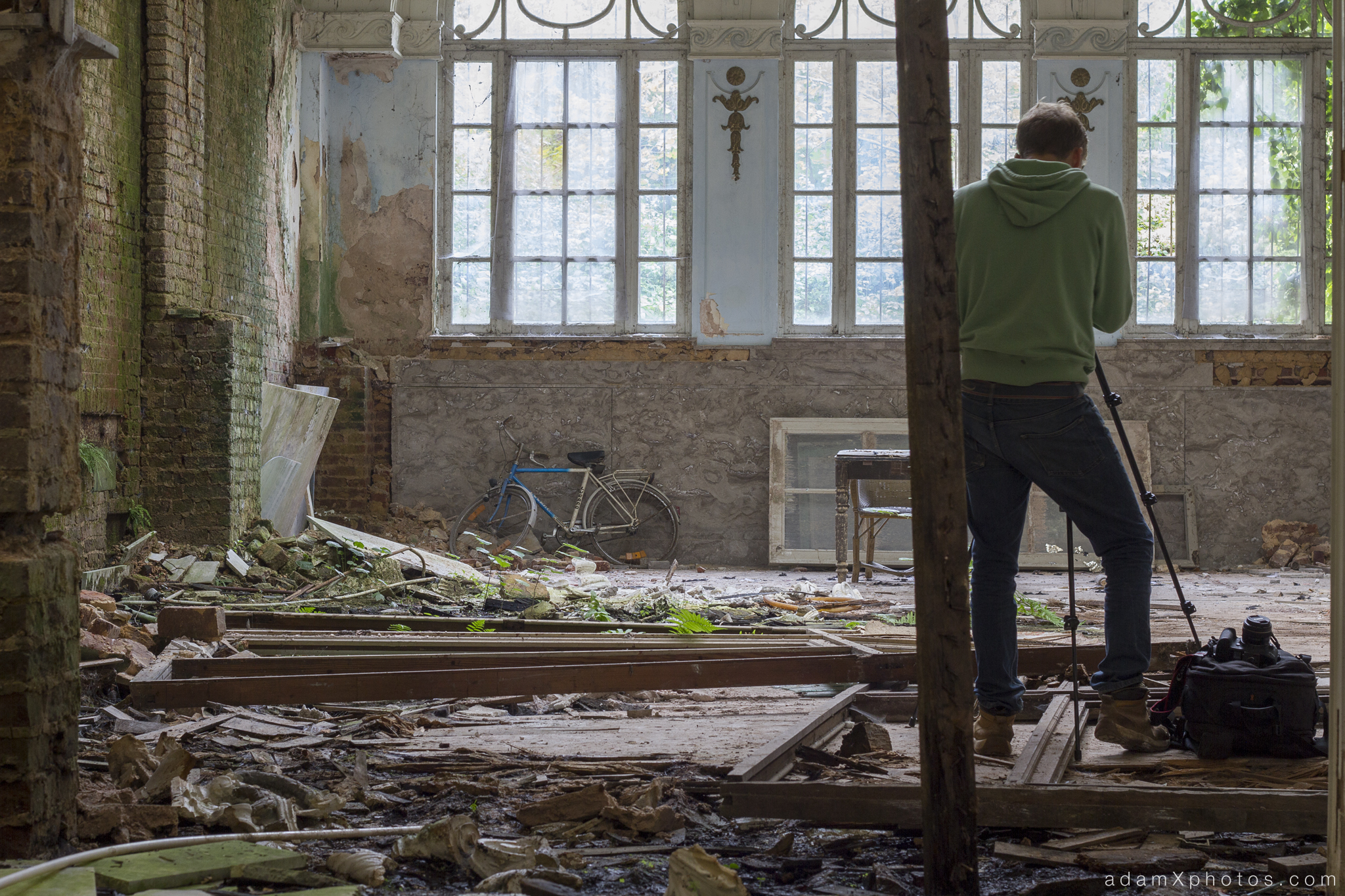 Adam X Urbex Urban Exploration Grand Hotel Regnier Belgium