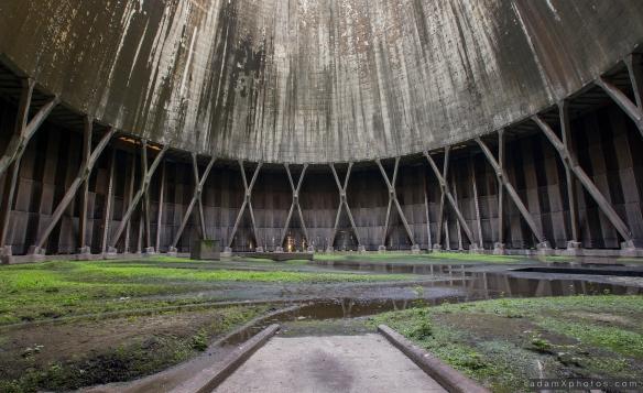 Urbex Urban Exploration Powerplant Gigawatt XL Cloud Factory external exterior cooling tower inside