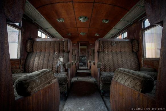 Adam X Urbex Urban Exploration Orient Express internal carriage corridor aisle
