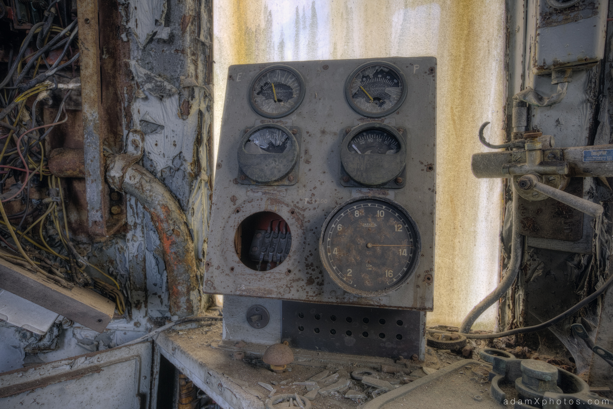 Adam X Urbex Urban Exploration Orient Express internal controls dials