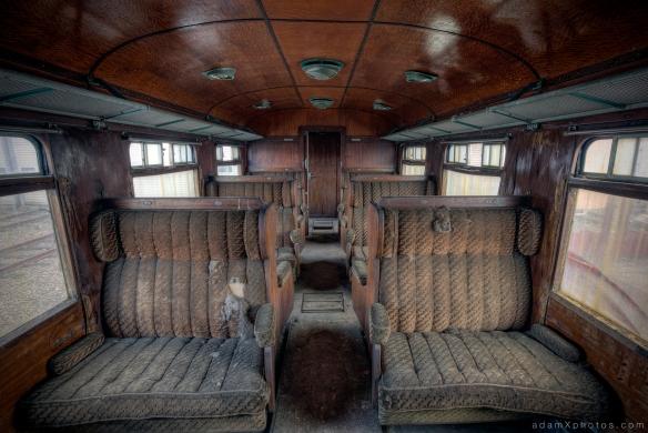 Adam X Urbex Urban Exploration Orient Express internal carriage