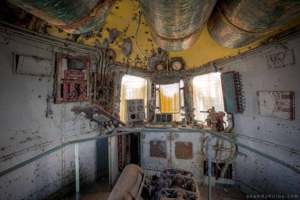 Adam X Urbex Urban Exploration Orient Express engine carriage controls