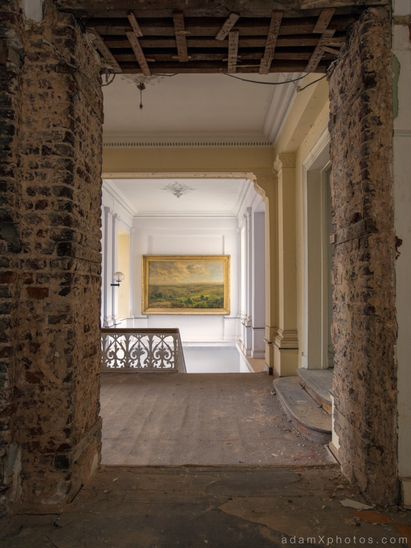 Adam X Alla Italia Belgium Urbex Urban Exploration painting corridor stairs hallway