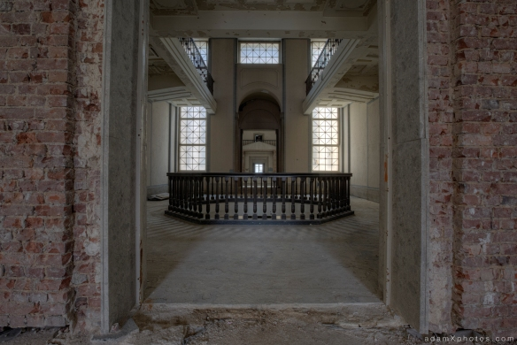 Adam X Urbex Urban Exploration Abandoned Germany Courthouse stairs staircase windows