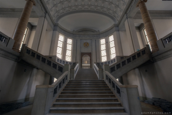 Adam X Urbex Urban Exploration Abandoned Germany Courthouse stairs staircase