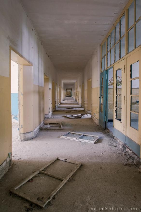 Adam X Urbex Urban Exploration Abandoned Germany Wunsdorf barracks soviet corridor doors broken decay