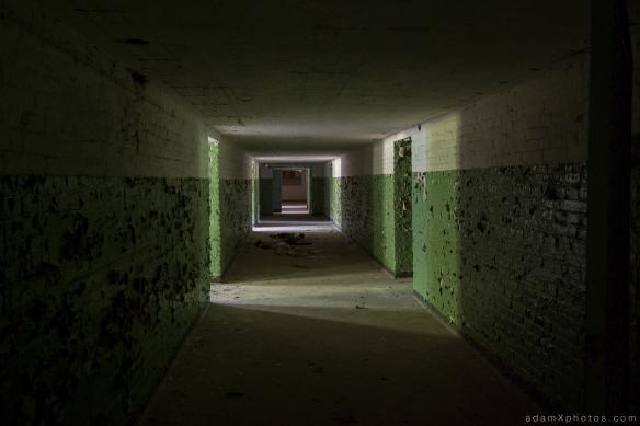 Adam X Urbex Urban Exploration Abandoned Germany Wunsdorf barracks soviet corridor store rooms basement