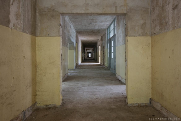 Adam X Urbex Urban Exploration Abandoned Germany Wunsdorf barracks corridor decay