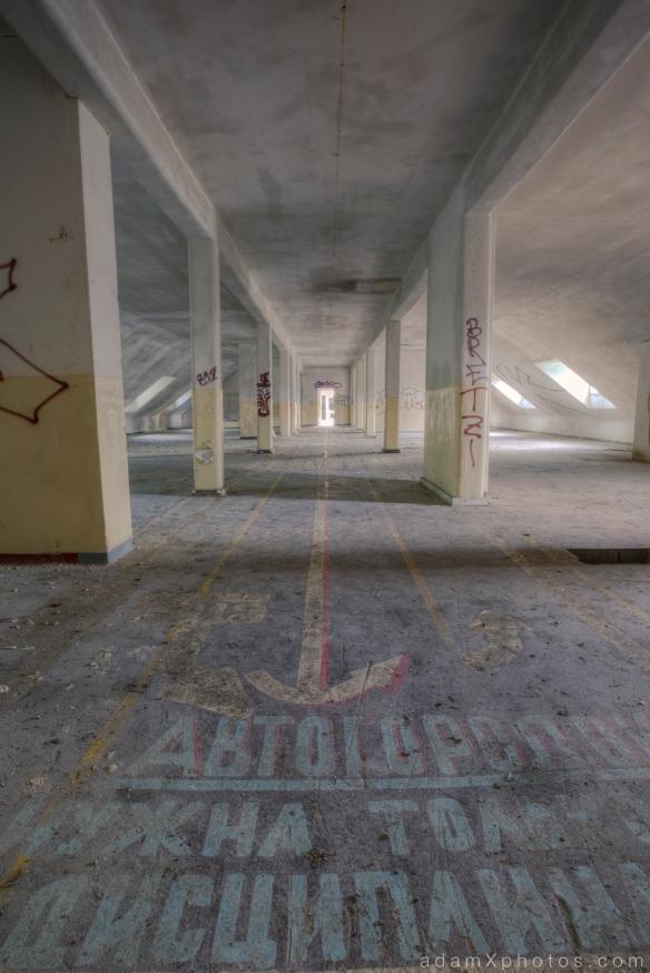 Adam X Urbex Urban Exploration Abandoned Germany Wunsdorf barracks soviet writing painting sign