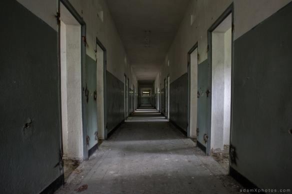Adam X Urbex Urban Exploration Abandoned Germany Wunsdorf barracks prison corridor