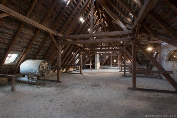 Adam X Urbex Urban Exploration Germany Juterbog School Soviet Russian Abandoned Lost Decay Attic roof loft