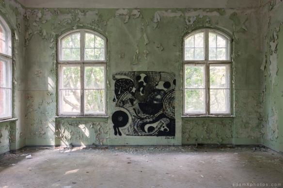 Adam X Urbex Beelitz Heilstatten Germany Urban Exploration Mens Men's Sanatorium Hospital Decay Lost Abandoned Hidden art graffiti painting
