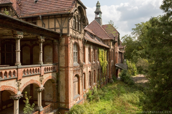 Adam X Urbex Beelitz Heilstatten Germany Urban Exploration Mens Men's Sanatorium Hospital Decay Lost Abandoned Hidden exterior outside external