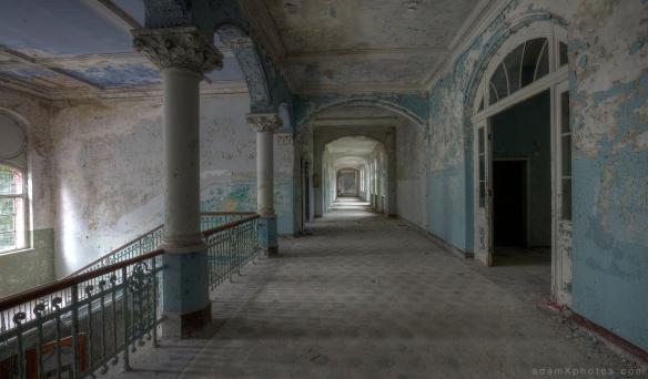 Adam X Urbex Beelitz Heilstatten Germany Urban Exploration Mens Men's Sanatorium Hospital Decay Lost Abandoned Hidden Corridor