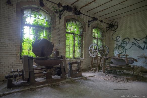 Adam X Urbex Beelitz Heilstatten Germany Urban Exploration Hospital Decay Lost Abandoned Hidden Butcher Bakery laundry