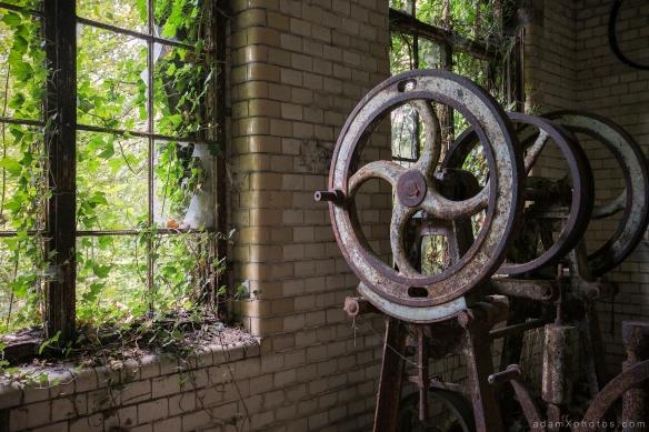 Adam X Urbex Beelitz Heilstatten Germany Urban Exploration Hospital Decay Lost Abandoned Hidden Butcher Bakery laundry detail window