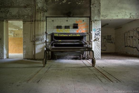 Adam X Urbex Beelitz Heilstatten Germany Urban Exploration Hospital Decay Lost Abandoned Hidden Butcher Bakery laundry oven furnace