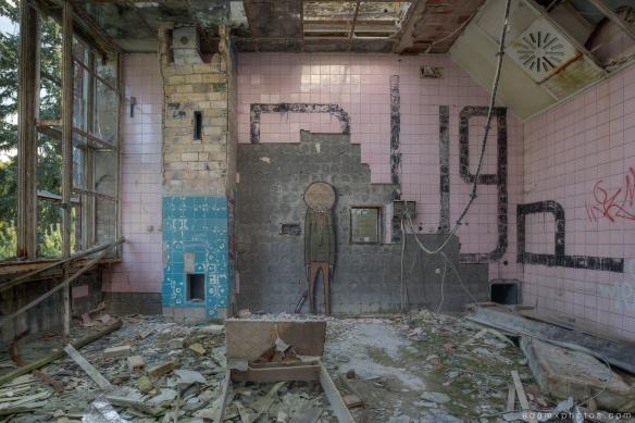 Adam X Urbex Beelitz Heilstatten Germany Urban Exploration Lung clinic Sanatorium Hospital Decay Lost Abandoned Hidden graffiti