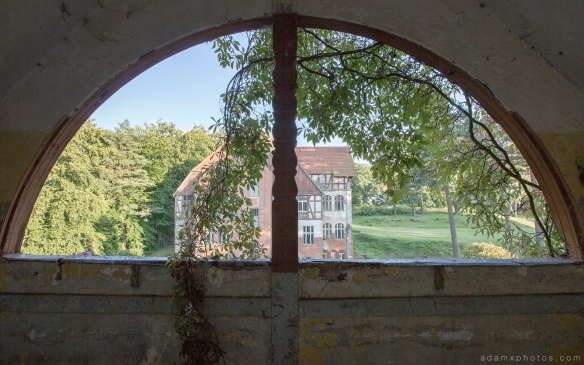 Adam X Urbex Heilstatten Hohenlychen Germany Urban Exploration Decay Lost Abandoned Hidden window external building