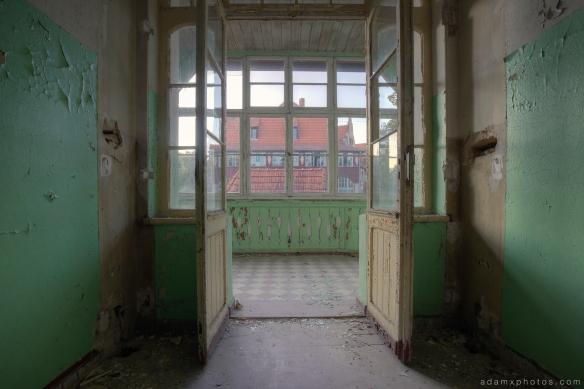 Adam X Urbex Heilstatten Hohenlychen Germany Urban Exploration Decay Lost Abandoned Hidden doors building view