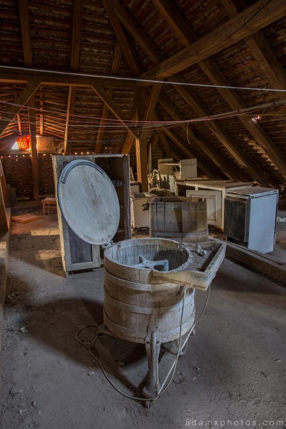 Adam X Urbex Krankenhaus von rollstuhlen Hospital of wheelchairs Germany Urban Exploration Decay Lost Abandoned Hidden Wheelchair attic loft dryer spinner