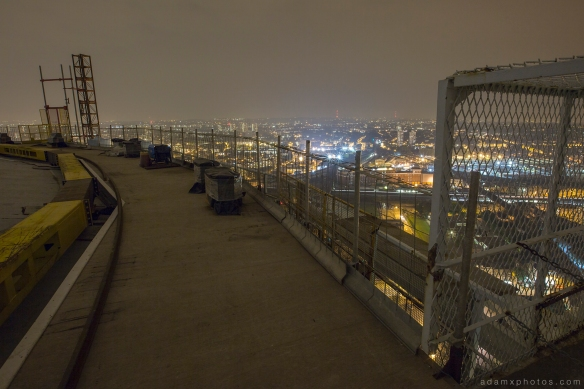 Adam X Urbex UE Urban Exploration London Rooftops High Night Photo Photography Skyline Battersea Gas Holders Gasometer roof