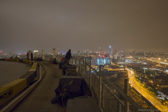 Adam X Urbex UE Urban Exploration London Rooftops High Night Photo Photography Skyline Battersea Gas Holders Gasometer roof explorers battersea power station BPS selfie
