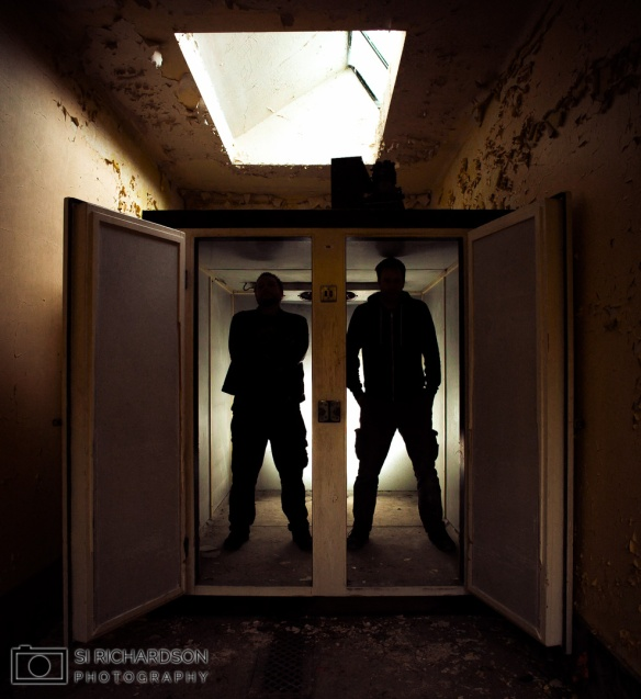 Si Richardson Photography White Morgue Durham mortuary group shot selfie Adam X Urbex Urban Exploration