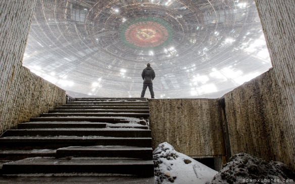 Urbex Selfie Adam X Auditorium epic Buzludzha Monument Bulgaria Urban Exploration Urbex Adam X Photo Photos photographs report history tower derelict abandoned decay decaying lost forgotten communist party headquarters