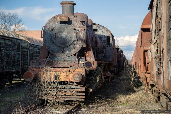 Train locomotive graveyard kaloyanovets bulgaria urbex urban exploration Adam X photo photos photography photographs report abandoned lost derelict decay decayed forgotten haunting