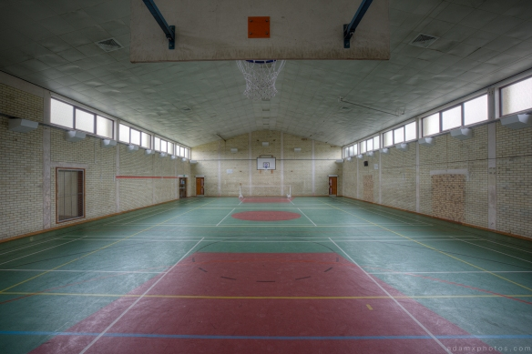 Gym Gymnasium sports hall basketball RAF Coltishall urbex urban exploration Adam X photos photographs photography report abandoned disused derelict forgotten decay decaying history