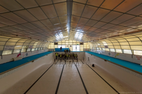 swimming pool group shot RAF Coltishall urbex urban exploration Adam X photos photographs photography report abandoned disused derelict forgotten decay decaying history