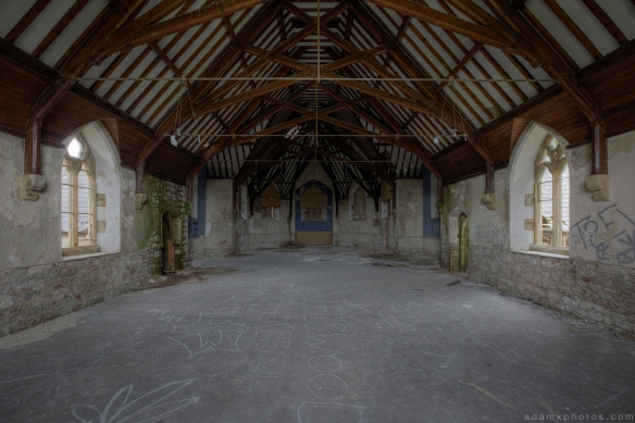 Chapel church Denbigh Asylum Wales Urbex Urban exploration Adam X Urban Exploration Photo photos photographs UK March 2015 report abandoned disused derelict decay decayed