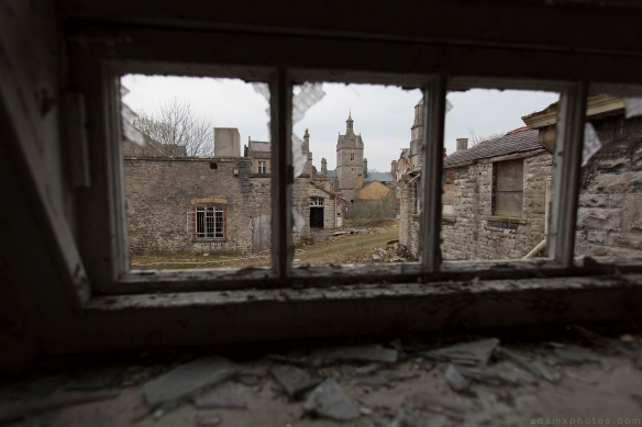 buildings window broken Denbigh Asylum Wales Urbex Urban exploration Adam X Urban Exploration Photo photos photographs UK March 2015 report abandoned disused derelict decay decayed