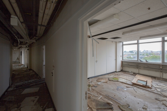 Corridor Sovereign House HMSO Norwich Urbex Adam X Urban Exploration 2015 Abandoned decay lost forgotten derelict