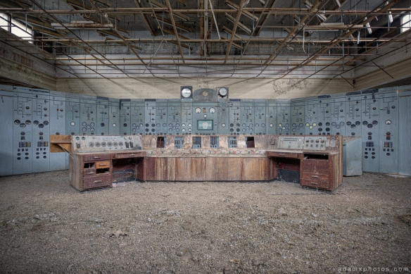 Power Station plant Control Room industry industrial heritage Urbex Adam X Urban Exploration 2015 Abandoned decay lost forgotten derelict
