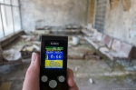 lobby geiger counter dosimeter reading Hospital 126 Chernobyl Pripyat Urbex Adam X Urban Exploration 2015 Abandoned decay lost forgotten derelict