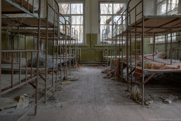 Cribs cots children kopachi kindergarten Chernobyl Pripyat Urbex Adam X Urban Exploration 2015 Abandoned decay lost forgotten derelict