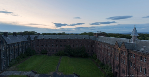 Roof dusk Night nighttime camping St Joseph's Seminary Joe's Upholland Urbex Adam X Urban Exploration 2015 Abandoned decay lost forgotten derelict
