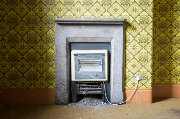 fireplace wallpaper vintage retro camping St Joseph's Seminary Joe's Upholland Urbex Adam X Urban Exploration 2015 Abandoned decay lost forgotten derelict