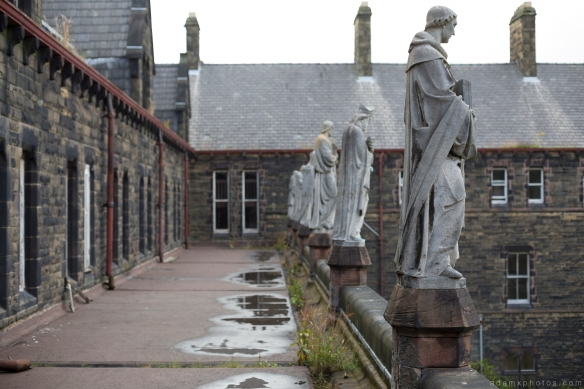the guardians statues roof rooftop camping St Joseph's Seminary Joe's Upholland Urbex Adam X Urban Exploration 2015 Abandoned decay lost forgotten derelict