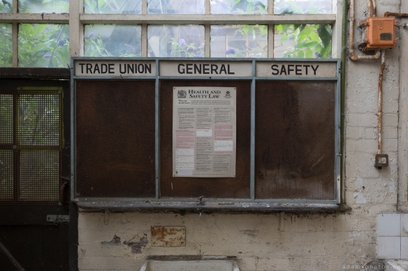 trade union noticeboard West Bromwich Spring Company Helical Works Springs industry industrial Urbex Adam X Urban Exploration 2015 Abandoned decay lost forgotten derelict