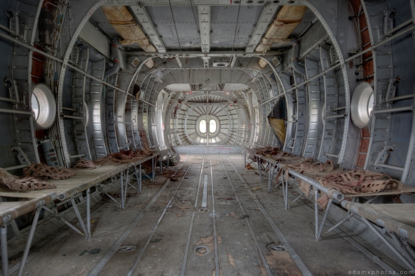 Inside Interior cabin War Planes Nord Noratlas France Urbex Adam X Urban Exploration 2015 Abandoned decay lost forgotten derelict