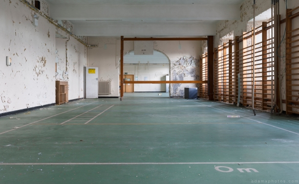 Gym Gymnasium bars empty stripped Royal Hospital Haslar Gosport History Naval Navy Military Hospital Urbex Adam X Urban Exploration Infiltration Access 2015 Abandoned decay lost forgotten derelict
