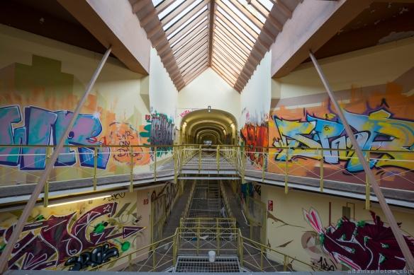 Graf Grafitti Centre Prison H19 Germany Deutschland Urbex Adam X Urban Exploration Access 2016 Abandoned decay lost forgotten derelict