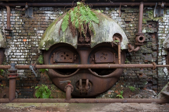 ferns urbex face furnace fire tank boiler Usine S Belgium Textile Wool Factory Urbex Adam X Urban Exploration Access 2016 Abandoned decay lost forgotten derelict
